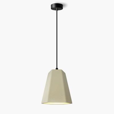 Lampa wisząca Lumatix Alhena, jasny beton architektoniczny