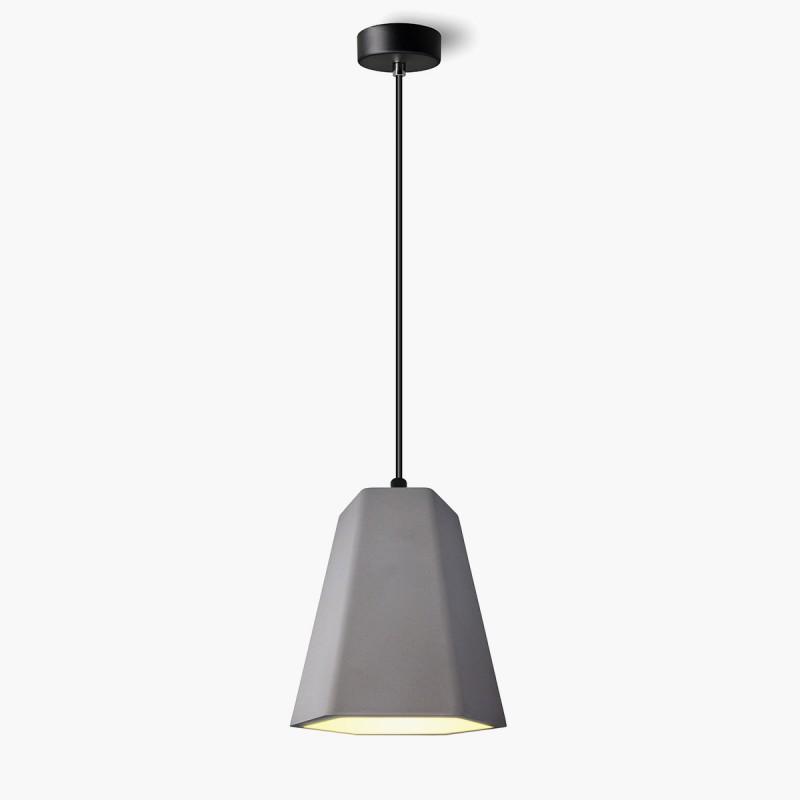 Lampa wisząca Lumatix Alhena, ciemny beton architektoniczny