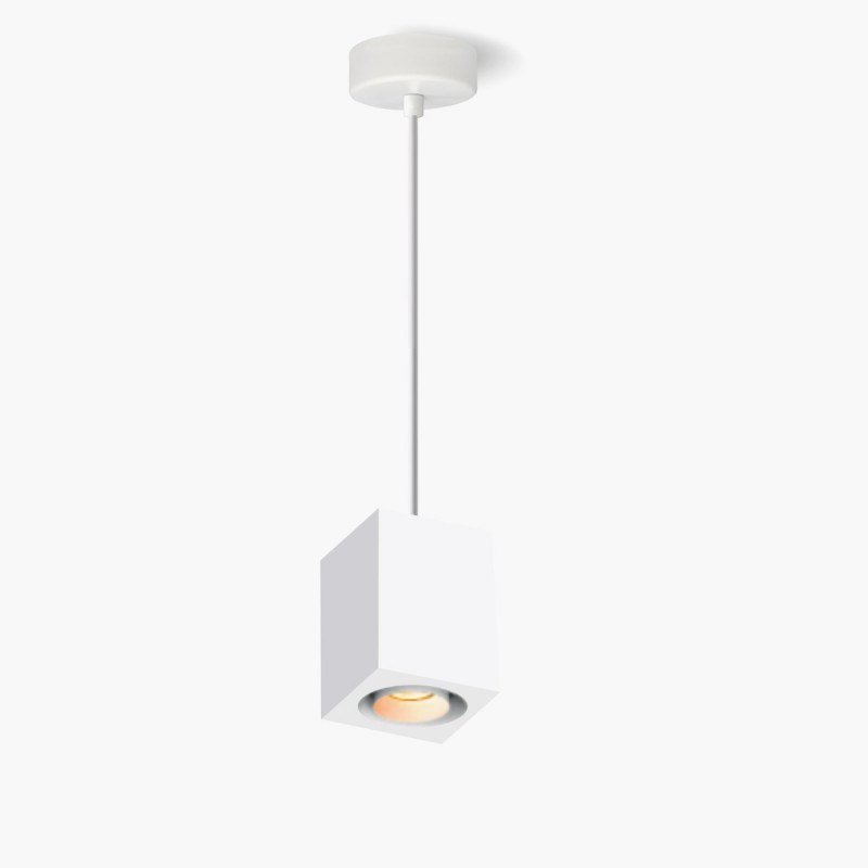Lampa Lumatix Kanopus-1, biały gips