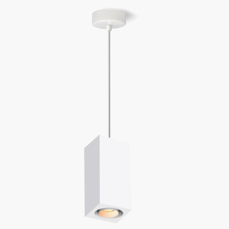 Lampa wisząca Lumatix Kanopus-2, biały gips