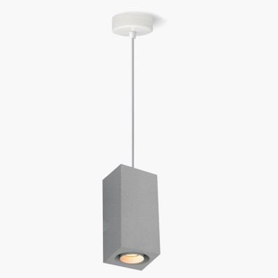 Lampa wisząca Lumatix Kanopus-2, ciemny (szary) beton