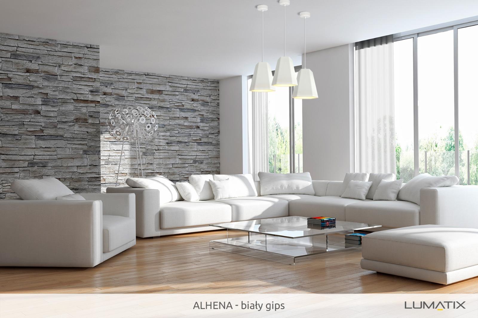 Aranżacja: Lampa Lumatix Alhena biały gips