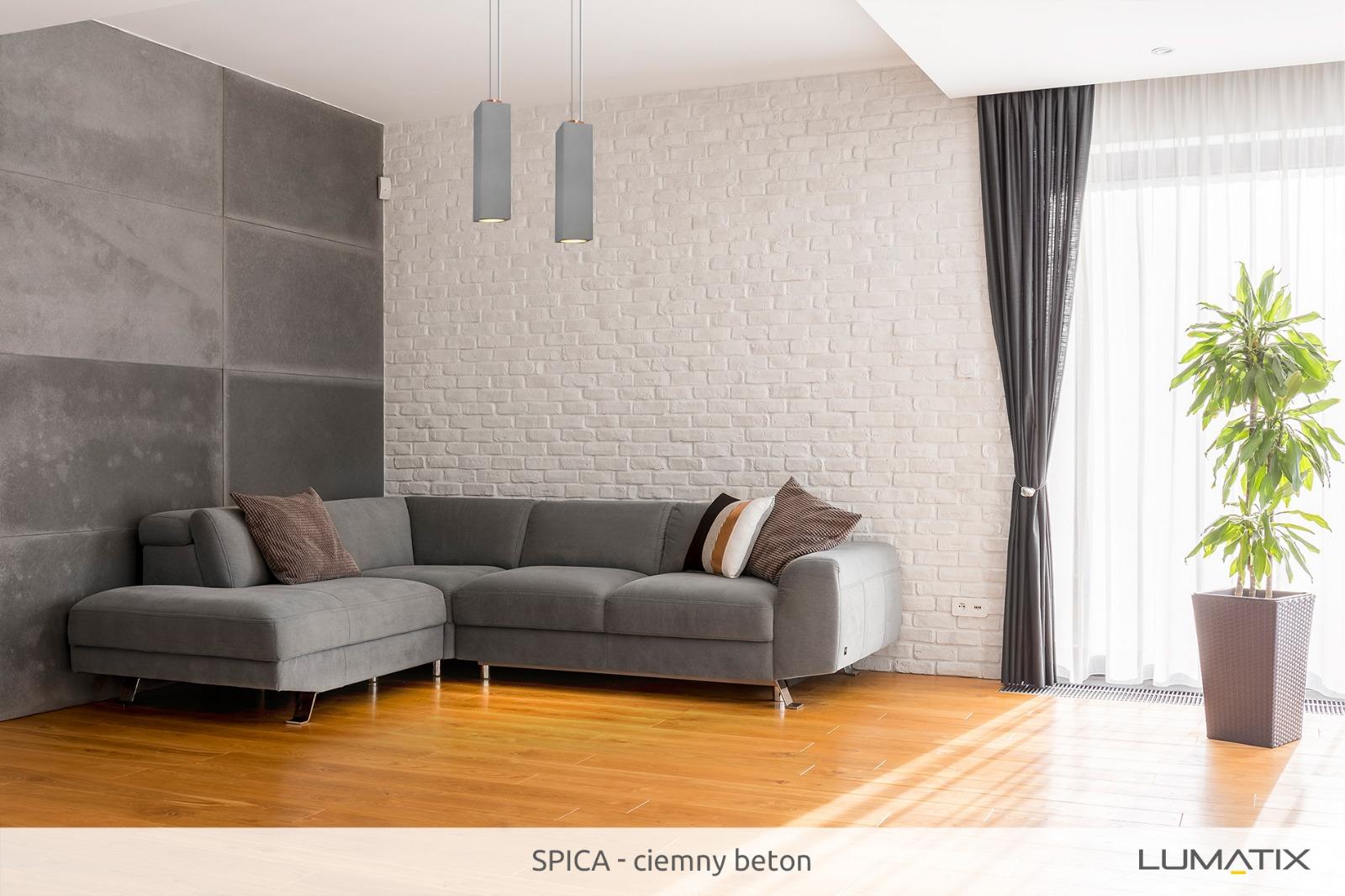 Aranżacje: Lumatix Spica ciemny szary beton